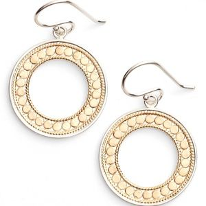 Anna Beck Open Circle Drop Earrings Sterling